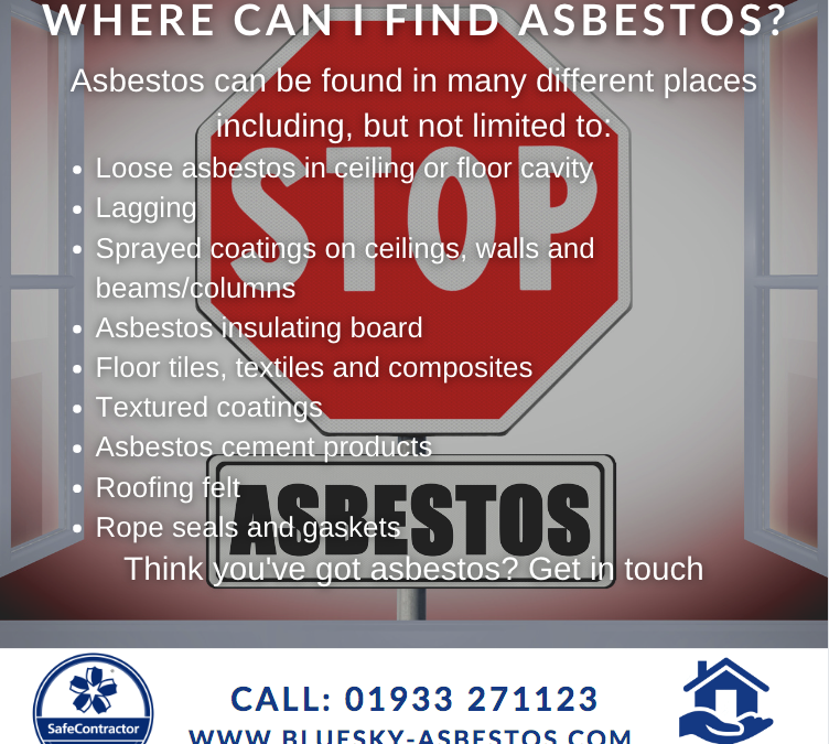 Where can asbestos be found?
